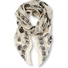 Alexander Mcqueen classic skull scarf. i want you i want you i want you.