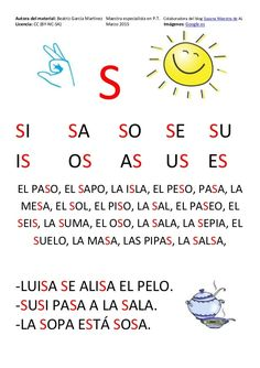Cartilla de Lectura en Mayúsculas Spanish Teaching Resources, Spanish Language Learning, Spanish Lessons, Learn To Speak Spanish, Pin On, Pre Writing, Preschool Math, Math For Kids, Words To Describe