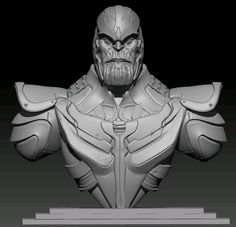 Guardians Of The Galaxy 2012 Thanos Concept Bust Bust