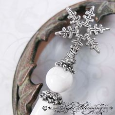 Snow Maiden Snowflake Hair Stick by NightBlooming on Etsy, $27.50