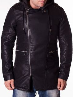 Geaca barbati Feel X din piele Leather Jacket, Interior Design, Jackets, Fashion, Studded Leather Jacket, Nest Design, Down Jackets, Moda, Leather Jackets
