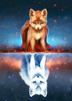 Construire son site web avec les options par contrat de - #avec #Construire #contrat #de #les #miroir #options #par #site #son #web Pet Anime, Anime Animals, Mythical Creatures Art, Fantasy Creatures, Cute Animal Drawings, Cute Drawings, Fox Art, Animal Wallpaper, Iphone Wallpaper Wolf