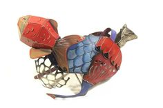 Artemis Valsamaki Greece, 1984 Brooch - copper, silver, acrylic paint and pigments