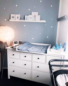 Ikea Baby Room, Baby Room Furniture, Baby Bedroom, Baby Boy Rooms, Baby Room Decor, Nursery Room, Baby Room Design, House Rooms, Diaper Change