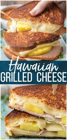 Hawaiian Pizza Grilled Cheese is my favorite Grilled Cheese Recipe for busy days and nights. Tips and tricks for how to make the PERFECT Grilled Cheese included in this delicious sandwich loaded with cheese, ham, and pineapple. @saraleebread #ad #saraleebread #artesanobread