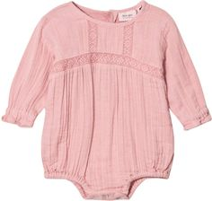 Noa Noa Miniature Blush Embroidered Long Sleeved Baby Body #babygirl, #romper, #promotion