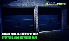 Garages are useful for a wide range of reasons – home projects, storage, play – but, for all of those reasons, they also can prompt safety & security challenges. Here we have prepared this garage door safety tips to keep everyone and everything safe and secure. Garage Door Company, Garage Doors, Garage Door Installation, The Doors, Safety And Security, Safety Tips, Garages, Home Projects, Prompts