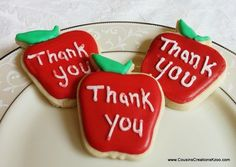 Teacher Appreciation Cookies Custom Cookies by Cousin's Creations - Cousin's Creations