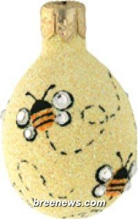 Surprise, Jeweled Bees Miniature Egg Ornament From Patricia Breen (Easter, Spring)