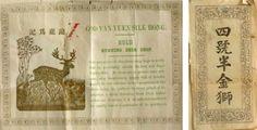 Fascetta di matasse di seta cruda d'importazione cinese. Inizio 1900 (Museo Didattico della seta di Como)