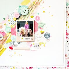 layout using the Fancy Free collection by Pink Paislee/Paige Evans and a few bits and pieces from my stash. Process video here; https://youtu.be/8Za7CHu6kPE #pinkpaislee #fancyfree #paigeevans #scrapbooking #papercraft #layout #design #craft #creative #processvideo