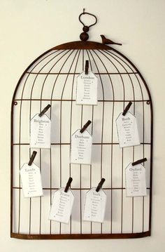 birdcage table plan | The Wedding of My DreamsThe Wedding of My Dreams
