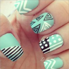 cute spring nail designs 15 cute spring nails and nail art ideas Fabulous Nails, Gorgeous Nails, Love Nails, Pretty Nails, Funky Nails, Cute Spring Nails, Spring Nail Art, Summer Nails, Tiffany Blue Nails