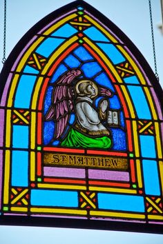 Saint Matthew window at King's College, Wilkes-Barre, Pa.