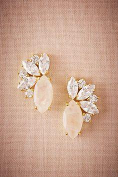 BHLDN Radiant Moonstone Earrings in  Bride Bridal Jewelry Earrings at BHLDN