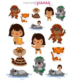 Disney THE JUNGLE BOOK Inspired Themed Sticker by PlanwithPizazz