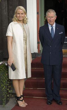 Crown Princess Mette-Marit of Norway with Prince Charles of Wales