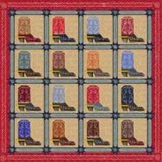 Cowboy Quilt Patterns | Steppin' High | Quilt Patterns & Blocks | Angie's Bits 'n Pieces