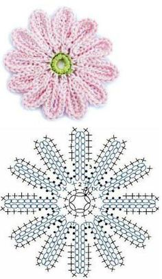 Watch This Video Beauteous Finished Make Crochet Look Like Knitting (the Waistcoat Stitch) Ideas. Amazing Make Crochet Look Like Knitting (the Waistcoat Stitch) Ideas. Crochet Daisy, Crochet Leaves, Crochet Motifs, Crochet Diagram, Crochet Chart, Irish Crochet, Diy Crochet, Crochet Flower Tutorial, Crochet Flower Patterns