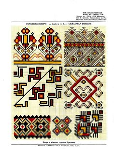 This Pin was discovered by Nat Hand Embroidery Videos, Folk Embroidery, Cross Stitch Embroidery, Embroidery Patterns, Knitting Patterns, Cross Stitch Geometric, Cross Stitch Borders, Cross Stitch Patterns, Stitch Design