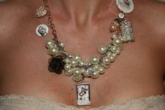 The Princess and the Pearl Charm Necklace by NessasCloset on Etsy, $119.00
