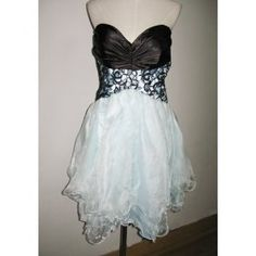 Size 16w Empire Sweetheart Black/Light Blue Cocktail Dress/SD811 - $69.00 : Wholesale Wedding Dresses|Plus Size Wedding Gowns,Prom Dresses Bridesmaid Gowns Online at Sisters Dress.