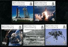 British Indian Ocean Territory 40th Anniv. Space Stamps