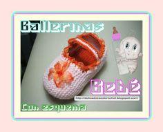 Delicadezas en crochet Gabriela: Ballerinas de bebé