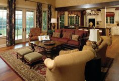 The Solstice Springs - Plan #5011 - traditional - living room - charlotte - by Donald A. Gardner Architects