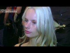 ▶ BCBGMAXAZRIA Hair and Makeup Spring/Summer 2014 | New York Fashion Week NYFW | FashionTV - YouTube