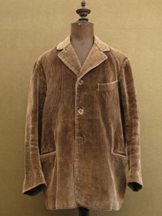 cir. 1930-1940's brown cord work jacket - ヨーロッパ古着店 「Mindbenders&Classics」