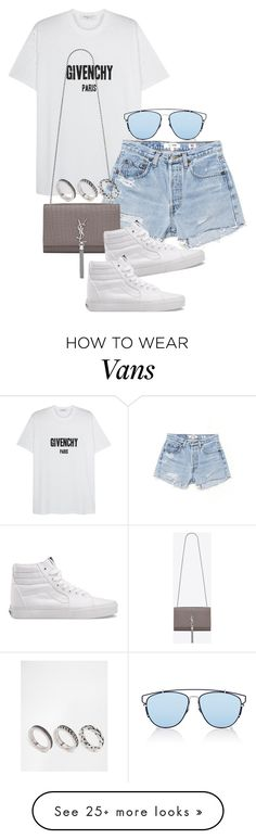 """""""Unbenannt #1612"""" by tyra482 on Polyvore featuring Givenchy, Christian Dior, RE/DONE, Yves Saint Laurent, Vans and ASOS"""
