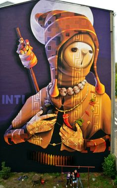 'Holy Warrior' by INTI in Lodz, Poland