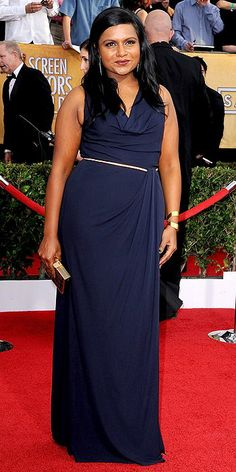 Mindy Kaling in David Meister (20th Screen Actors Guild Awards)