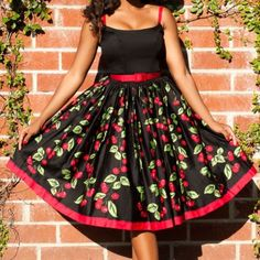 Vintage Look Cherry Jenny Dress