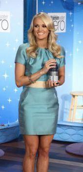 Carrie Underwood wearing Nikolaki Silk Dress on The Ellen DeGeneres Show April 7 Carrie Underwood Music, Carrie Underwood Photos, Satin Dresses, Silk Dress, I Love Girls, Best Female Artists, All American Girl, Thing 1