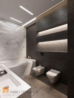 Фото: Ванная комната - Пятикомнатная квартира в стиле минимализм, ЖК «Классика», 208 кв.м.: