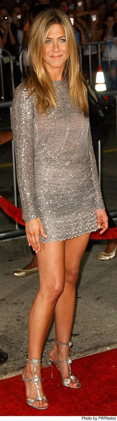 Jennifer Aniston Wearing Valentino Silver Dress at the Love Happens World Premiere on Sept. 15, 2009.