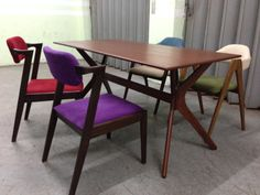 TN002 HARPER DINING TABLE  SIZE : W160 X D80 X H74CM   Made in thailand   TEAK WOOD