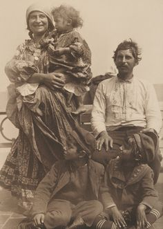 A Gypsy family from Serbia after arriving at Ellis Island [1047 x 1472]