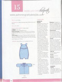 Preparamos el ajuar para el bebé con dos agujas y crochet. Más de 50 modelos para elegir, con moldes y explicaciones en español, de revista...