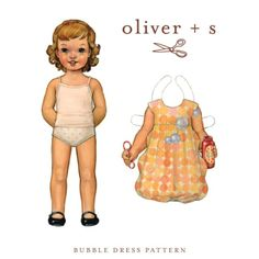 Bubble Dress: Digital - Sewing pattern from designer Oliver and S - A 'print at home' PDF download.