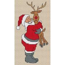 Resultado de imagem para cross stitch santa's