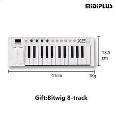MIDIPLUS X2 μίνι 25 σταθμισμένα πλήκτρα USB επαγγελματία midi ελεγκτή midi πληκτρολογίου Usb, Music Instruments, Music, Musical Instruments