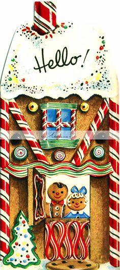 Digital Download Printable Vintage Christmas Ginger Bread