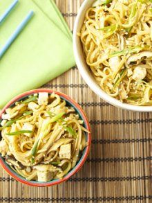 Quick Asian Dinner Sesame Udon Noodles | Weelicious