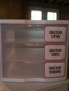 Adventures of 5th Grade: Classroom Organization This would be PERFECT for camp instead of folders for group work!!