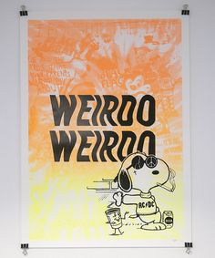 Snoopy Screen Print by Nathan Foker – The Great Divide