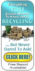 120x400px recycling free report banner for http://www.recyclingfactsguide.com Spread the word..
