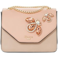 Dune Elady Jewel Clutch Bag ($78) ❤ liked on Polyvore featuring bags, handbags, clutches, blush, evening clutches, chain strap purse, special occasion handbags, purse clutches and hand bags